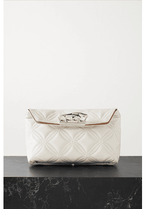 Alexander McQueen - Quilted Leather Clutch - Ivory