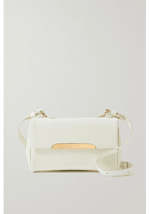 Marni - Corinne Mini Leather Shoulder Bag - White