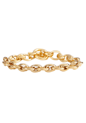 Double Link 18kt gold-plated chain bracelet