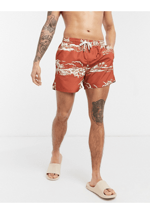 Another Influence swim shorts-Tan