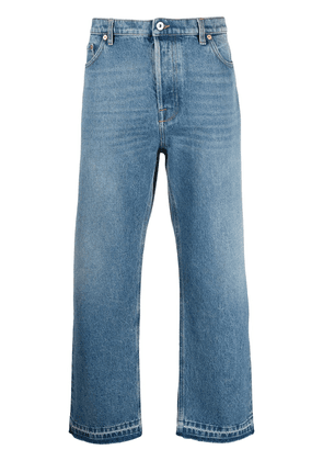 Valentino dual material denim trousers - Blue