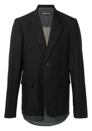 BALENCIAGA oversized layered blazer - Black