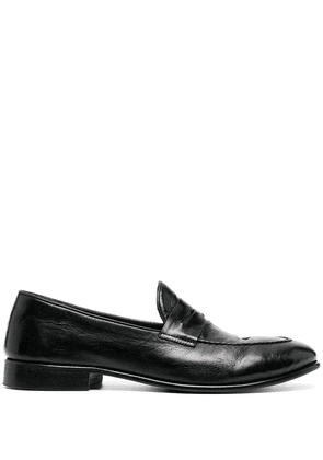 Alberto Fasciani penny-slot leather loafers - Black