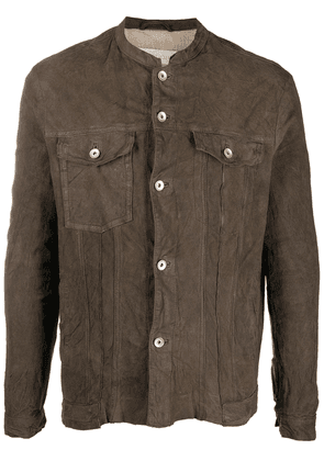 Giorgio Brato distressed-effect suede leather jacket - Brown