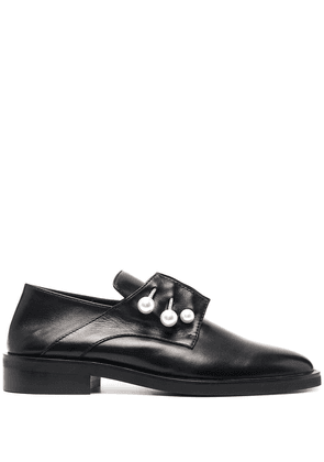 Coliac pearl-embellished loafers - Black