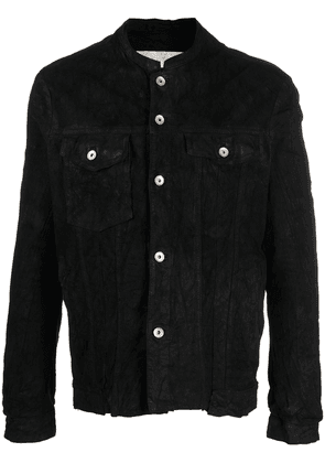 Giorgio Brato distressed-effect suede leather jacket - Black