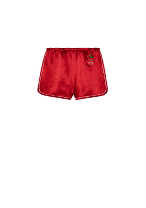 Jersey shorts with GG cherry