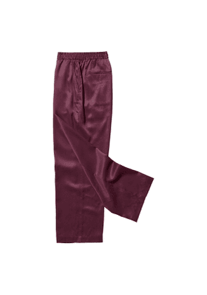 Burgundy Blue Lyocell Home Suit Trousers