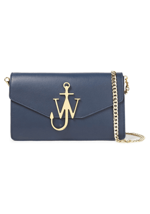 Jw Anderson Anchor  Leather Shoulder Bag Woman Navy Size --
