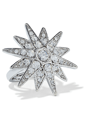 Kenneth Jay Lane Rhodium-plated Crystal Ring Woman Silver Size ONESIZE