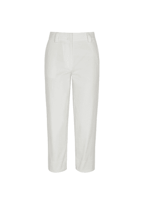 Moncler White Straight-leg Twill Trousers