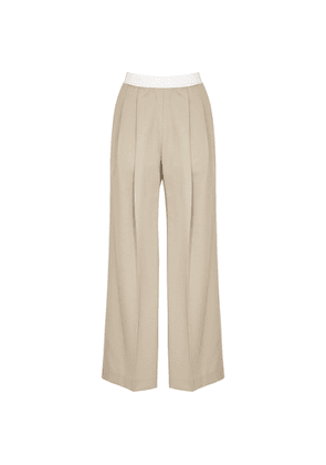 Low Classic Sand Straight-leg Wool Trousers