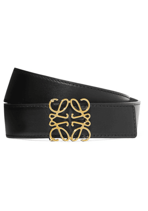 Loewe - Embellished Leather Belt - Black