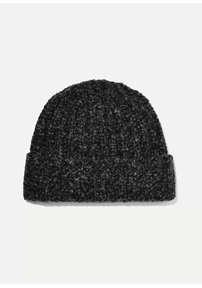 Johnstons of Elgin - + Net Sustain Donegal Ribbed Cashmere Beanie - Charcoal