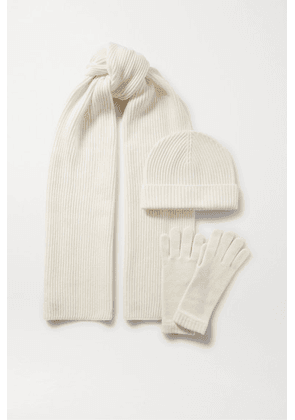 Johnstons of Elgin - Cashmere Hat, Scarf And Gloves Set - Cream