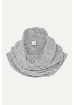 Johnstons of Elgin - Cable-knit Cashmere Snood - Light gray