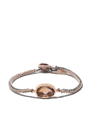 Brooke Gregson 14kt gold handwoven bracelet - Brown