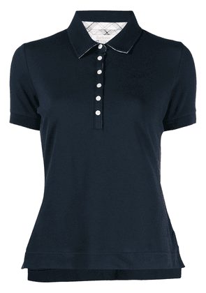 Barbour embroidered-logo polo shirt - Blue
