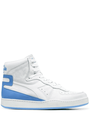 Diadora high-top panelled leather sneakers - White