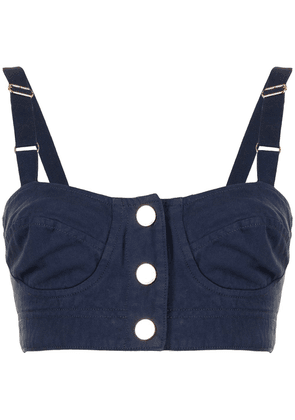 Alice McCall Bronte cropped top - Blue