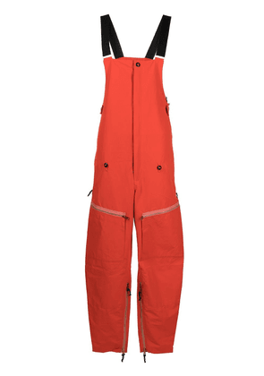 Diesel logo print utility jumpsuit - Orange