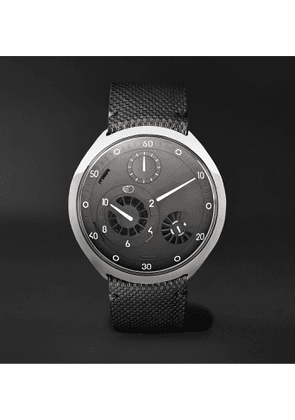 RESSENCE - Type 2G Automatic 45mm Titanium and Leather Watch with Smart Crown Technology - Men - Gray