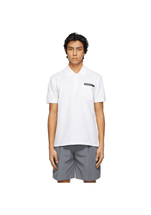 Givenchy White Bonded Tape Polo