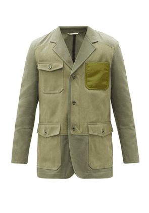 Valentino - Patched Cotton-twill Suit Jacket - Mens - Green