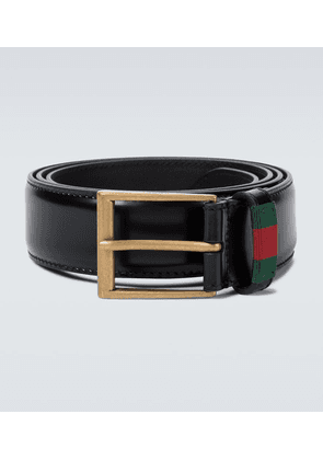 Leather belt with Web