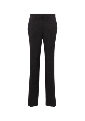 High-rise slim wool-blend pants