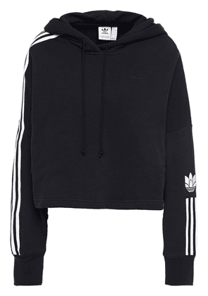 Adidas Originals French Cotton-terry Hoodie Woman Black Size 28
