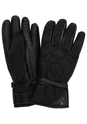 Cindy leather-trimmed ski gloves