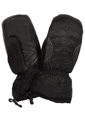 Selia leather-trimmed ski mittens