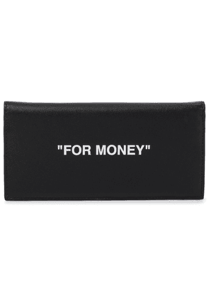 Printed leather wallet