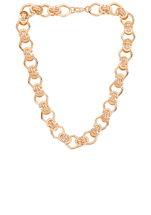 petit moments Kennedy Necklace in Metallic Gold.