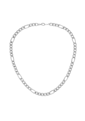 Susan Caplan Vintage 1990s Vintage Silver Plated Figaro Chain Necklace