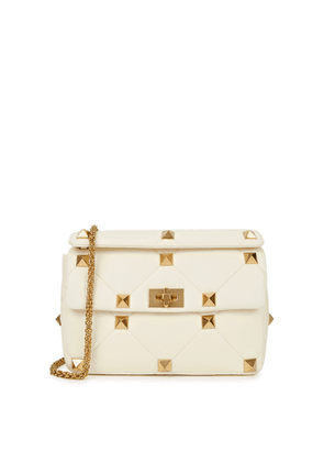 Valentino Valentino Garavani Roman Stud Leather Shoulder Bag