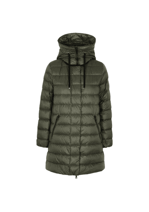 Moncler Gnosia Army Green Quilted Shell Coat