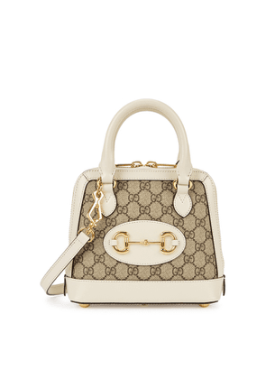 Gucci 1955 Horsebit Mini Monogrammed Top Handle Bag
