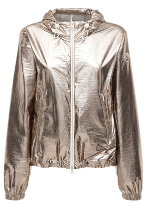 Eschamali Hooded Metallic Nylon Jacket