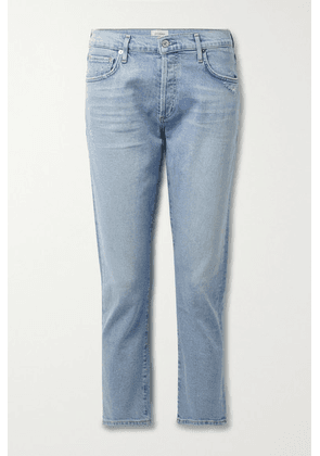 Citizens of Humanity - + Net Sustain Emerson Cropped Distressed Organic Mid-rise Straight-leg Jeans - Light denim