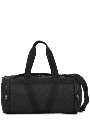 V Logo Leather Duffle Bag