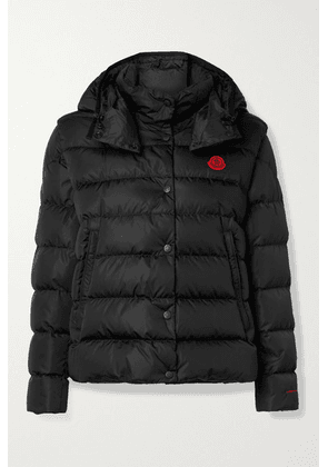 Moncler - Gatope Convertible Hooded Quilted Econyl Down Jacket - Black
