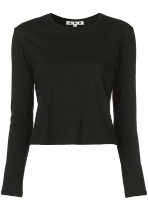 AMO fitted knitted jumper - Black