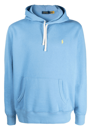 Polo Ralph Lauren embroidered logo relaxed-fit hoodie - Blue