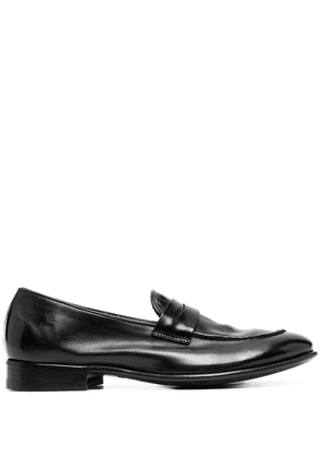 Alberto Fasciani polished-finish loafers - Black