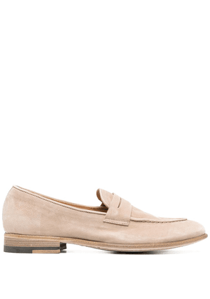 Alberto Fasciani suede-finish loafers - Neutrals