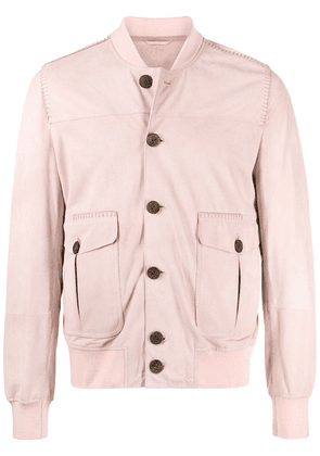 Giorgio Brato button-up suede bomber jacket - Pink