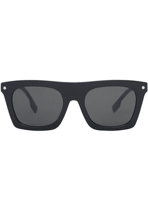 Burberry rectangle-frame sunglasses - Black