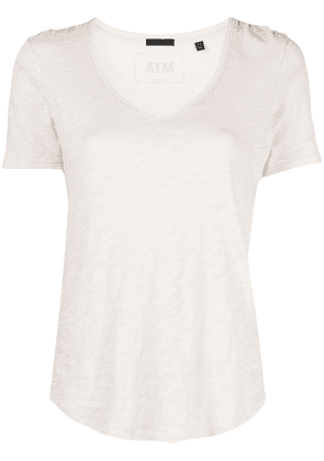 Atm Anthony Thomas Melillo cotton-jersey scoop-neck T-shirt - Neutrals